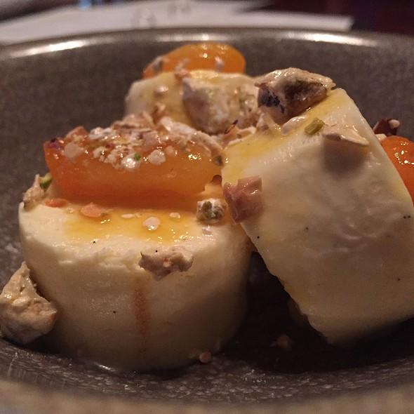 Semifreddo, Apricots, Pistachio Torrone at Lalla Rookh Bar