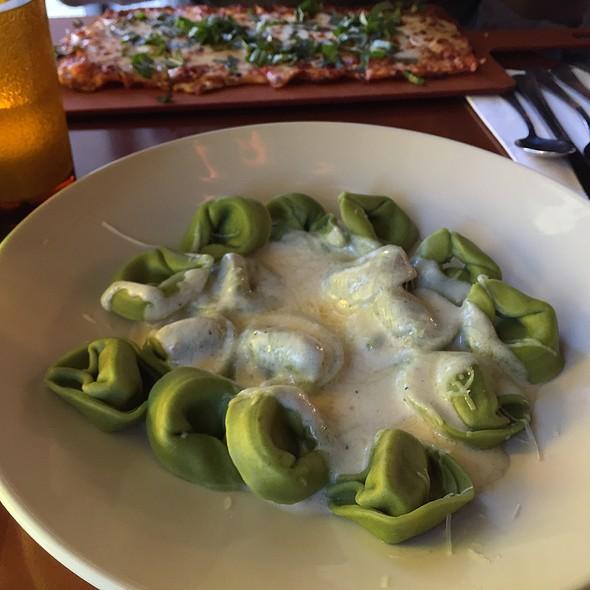 Sausage Ravioli With Garlic Alfredo @ Old Spaghetti Factory