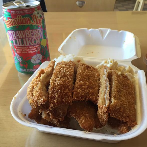 Chicken Katsu Plate Lunch @ L & L Hawaiian Barbeque