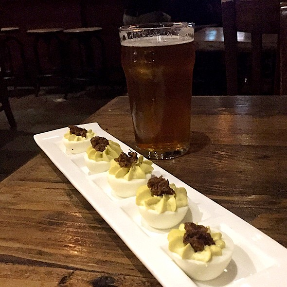 Deviled Eggs With Bacon Jam @ Hopwater Distribution