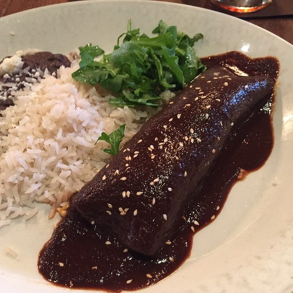 Mole Chicken Enchilada - Meso Maya - Downtown Dallas, Dallas, TX