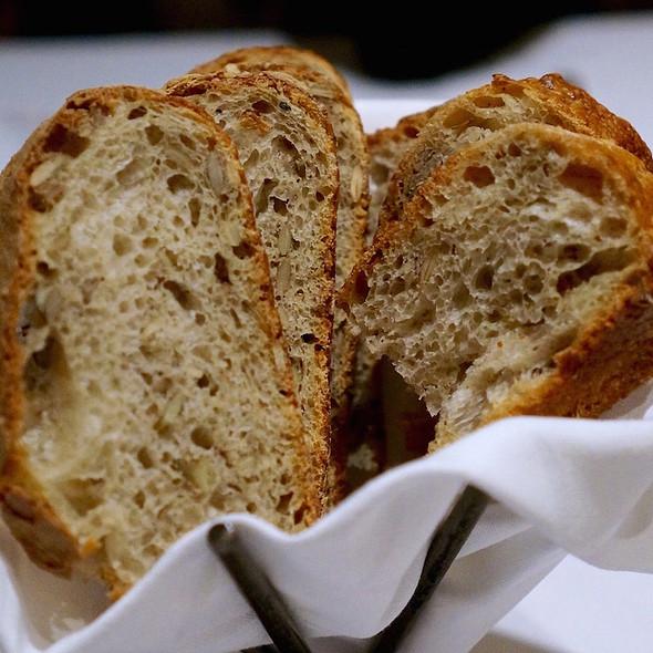 Housemade sourdough and ciabatta breads @ Bearfoot Bistro