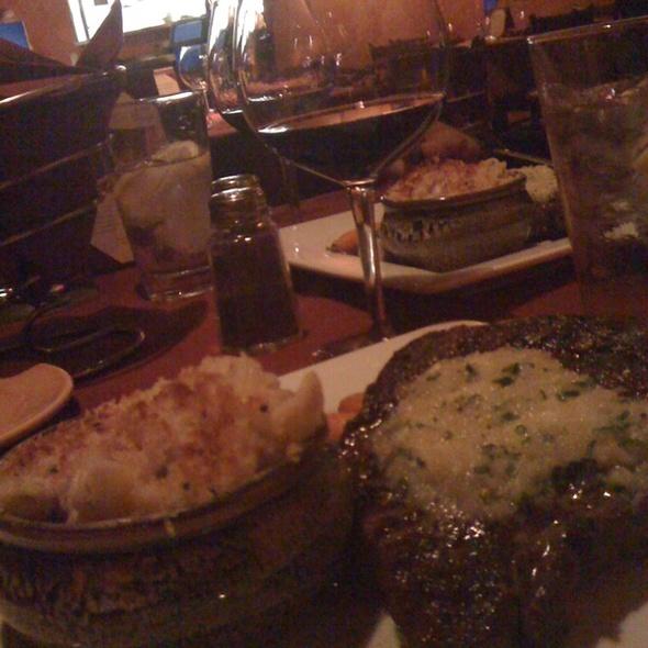 Ribeye Steak w/blue cheese Mac - Firefly Grill & Wine Bar, Encinitas, CA