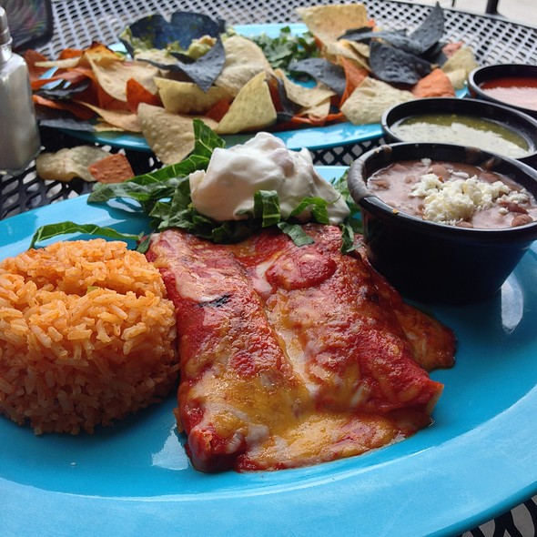 Chicken Enchiladas @ Habaneros Mexican Grill