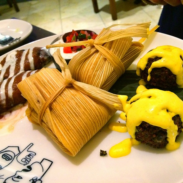 Plantain Empanadas, Sweet Corn Tamales, Fried Quinoa Balls @ Border Grill