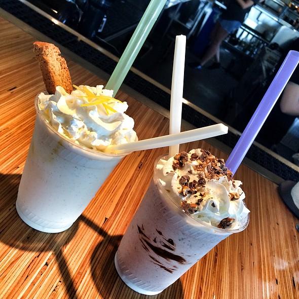 Lemon Olive Oil Biscotti Milkshake And Nutella Pretzel Milkshake @ Hopdoddy Burger Bar