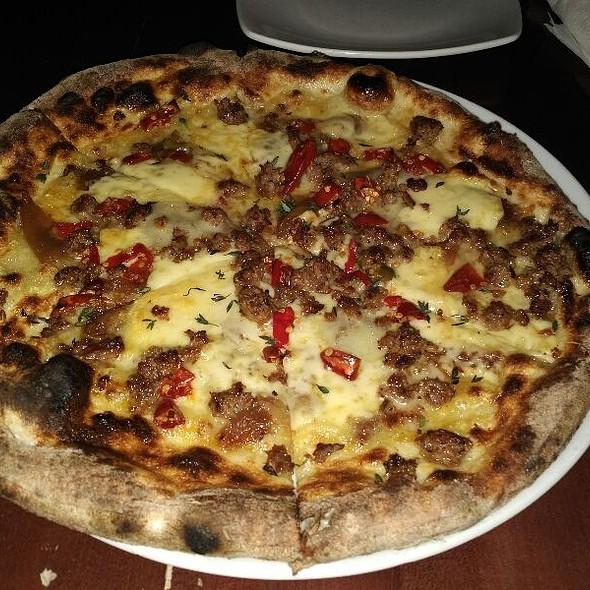 CarmelizedOnion,Sausage&HPepp - Varasano's Pizzeria, Atlanta, GA