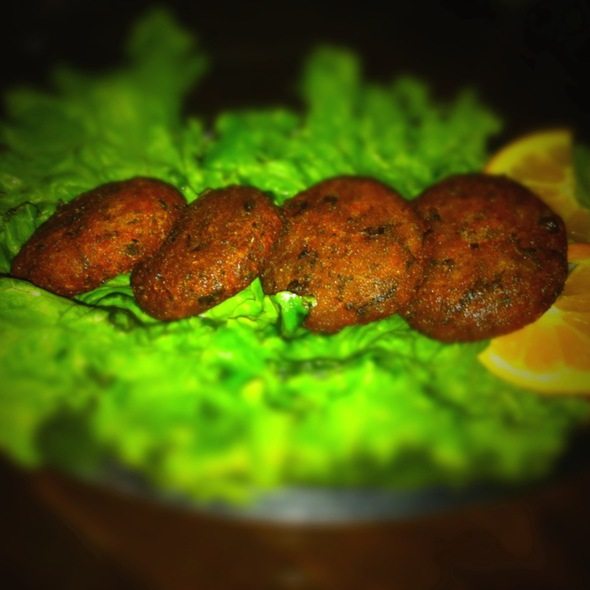 Crunch-Scrunch Aloo Tikki @ Saffron Indian Cuisine