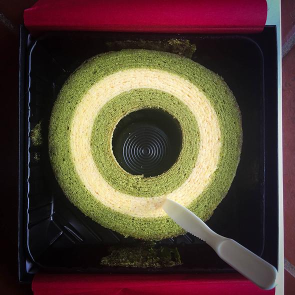 Japanese matcha baumkuchen