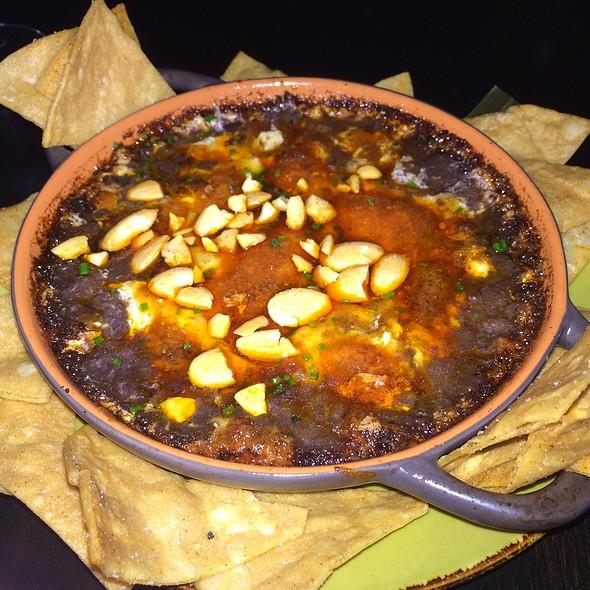 Chorizo Fundido, Spiced Almonds, Manchego, Chips @ Cocina Lolo