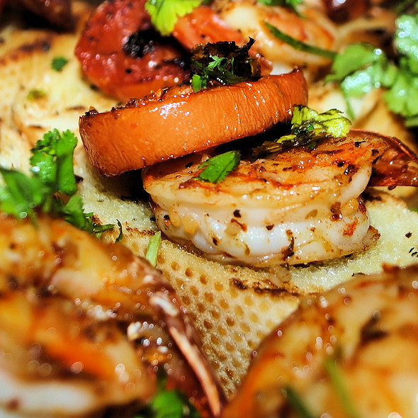 Shrimp & Roasted Tomato Bruschetta @ Home