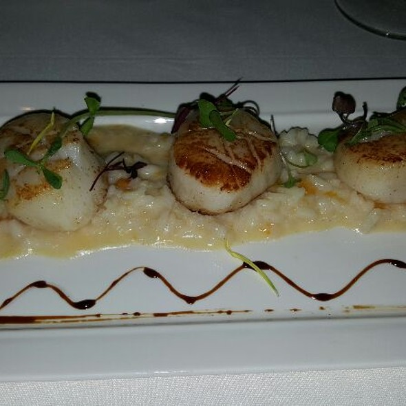 Sea Scallops With Butternut Squash Risotto - Lucio's BYOB & Grill, Houston, TX