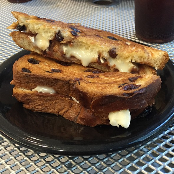 Brie And Apple Butter On Cinnamon Raisin @ Drip On Main