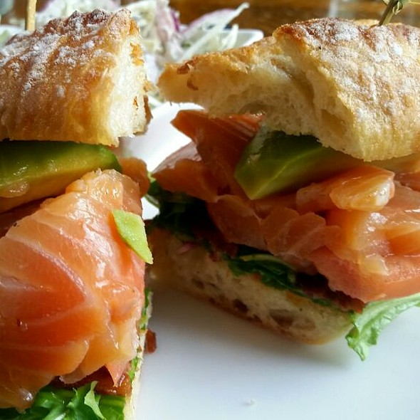House Cured Salmon & Avocado BLT - Hops and Vines, Williamstown, MA