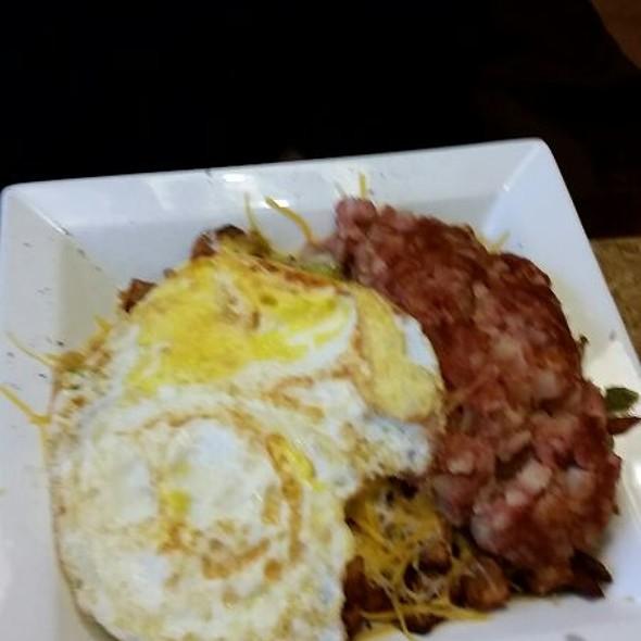 Cornbeef hash skillet  @ Krave Restaurant