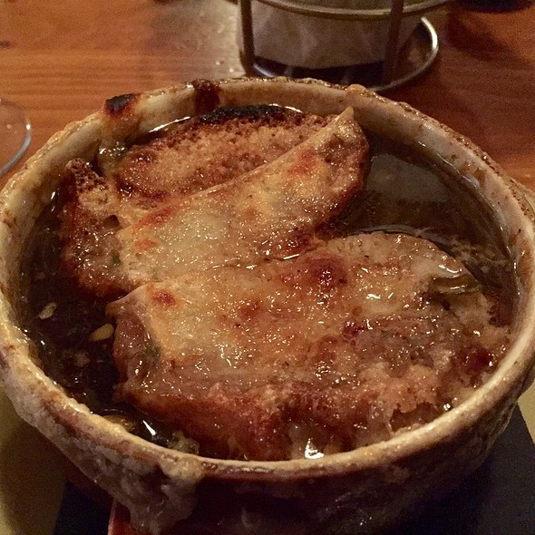 French Onion Soup with Gruyere Cheese - Parkers Blue Ash Tavern, Blue Ash, OH