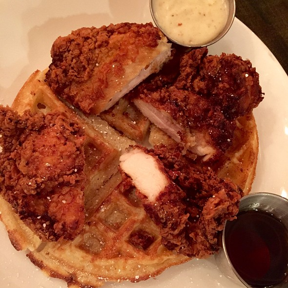 Chicken & Waffles With Gravy & Syrup
