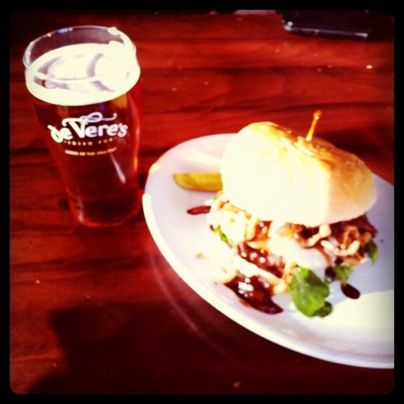 Firestone Burger @ de Vere's Irish Pub