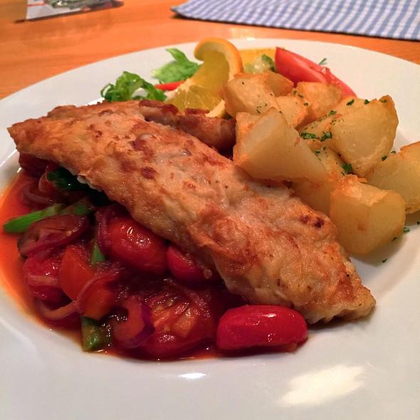 Codfish with Vegetables @ Schnitzelhaus, Palm Desert, CA