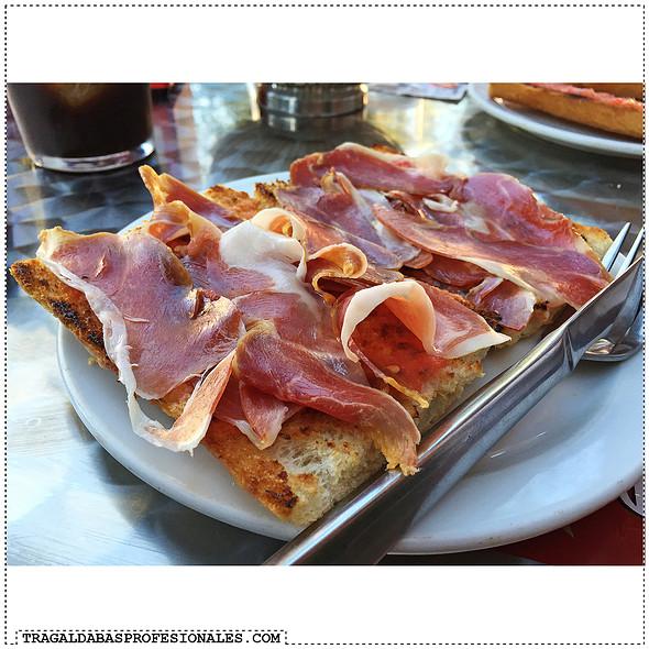 Serrano Ham Tomato Toast