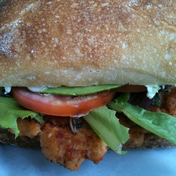 Philly Roll Salmon Burger @ Urban Cannibals Bodega & Bites