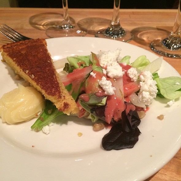 Butter Lettuce Salad With Bartlett Pears, Pan Roasted Chestnuts And Goat Cheese