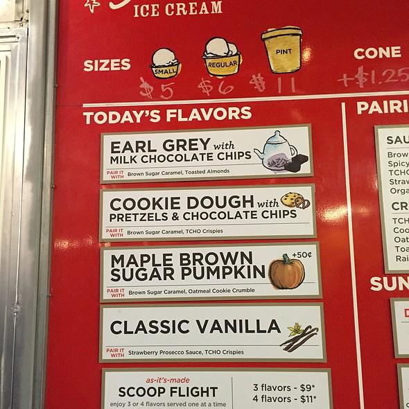 Smitten Ice Cream Menu Smitten Ice Cream Menu  Foodspotting