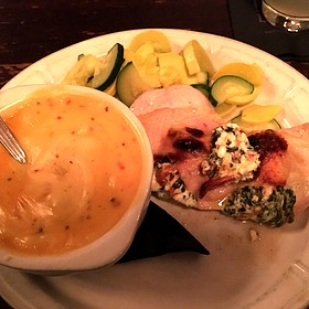 Stuffed Chicken Breast Queso Mashed Potatoes