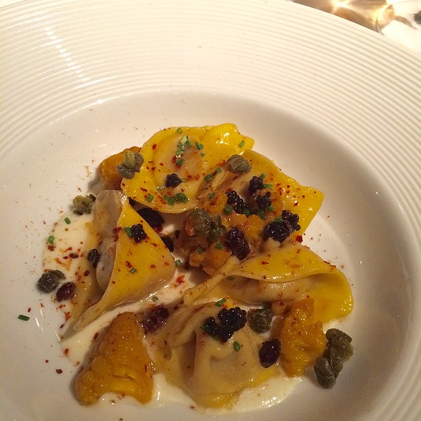 Cauliflower Cappelletti, Grapes, Capers And American Caviar @ Gramercy Tavern