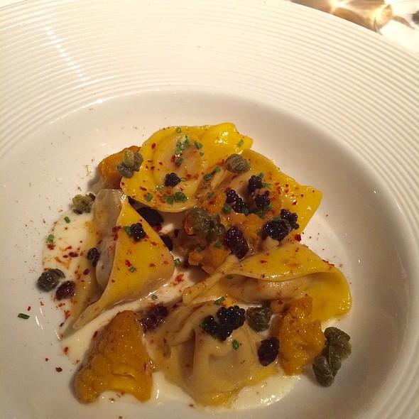 Cauliflower Cappelletti, Grapes, Capers And American Caviar @ Gramercy Tavern