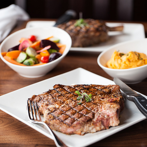 Porterhouse Steak and family style sides! - Spencer's For Steaks and Chops, Salt Lake City, UT
