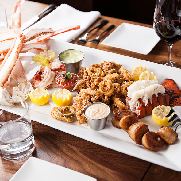 Seafood Platter for our party! - Spencer's For Steaks and Chops, Salt Lake City, UT