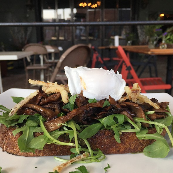 Wild Mushroom Toast With Poached Egg @ AP