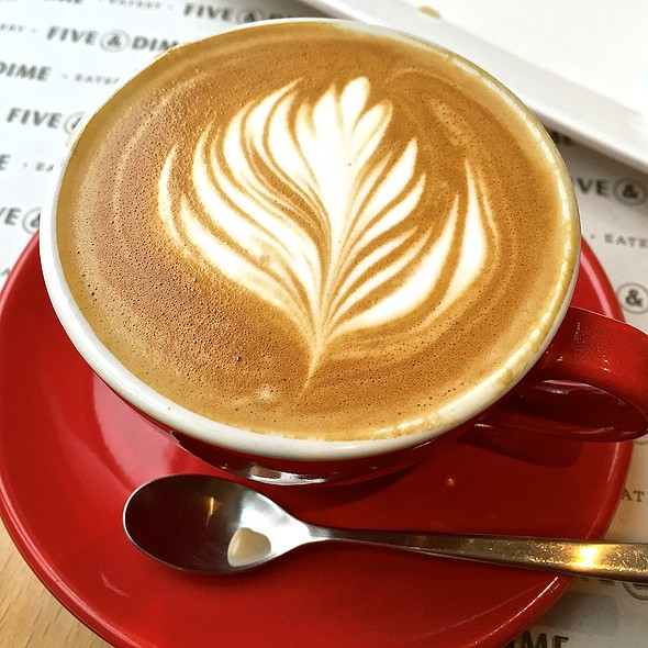 Flat White Coffee @ Five & Dime Eatery