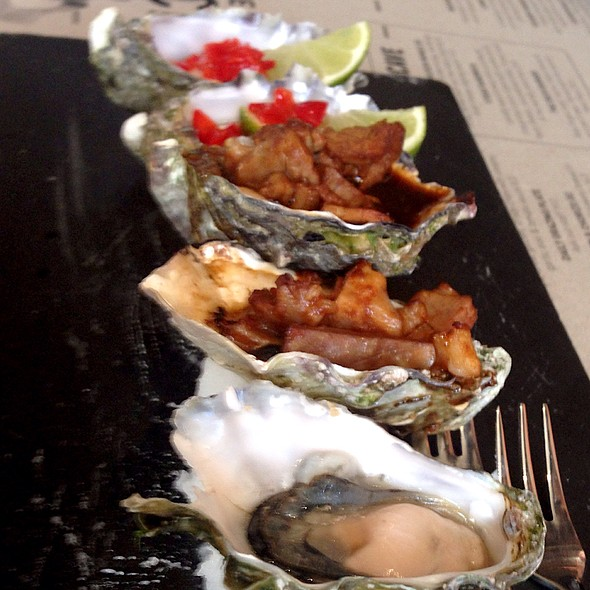 Oyster Sampler @ The Deck