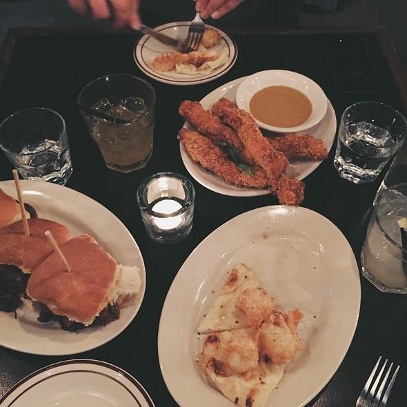 Captain Crunch Chicken Fingers + Fried Goat Cheese + Bulgogi Beef Sliders @ Bobcat Bonnie's