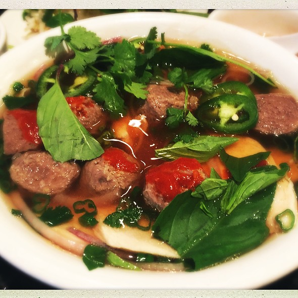 Chicken And Meatball Pho @ Phở Huy Restaurant