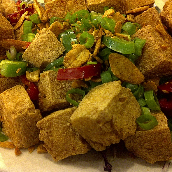 Deep Fried Tofu Seasoned with Chili, Salt and Pepper @ Daimo Chinese Restaurant