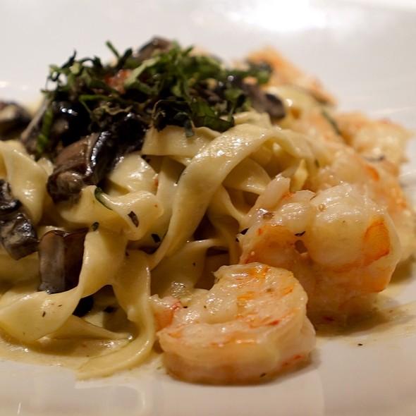 Shrimp & Mushroom Pasta @ River's End Restaurant & Inn