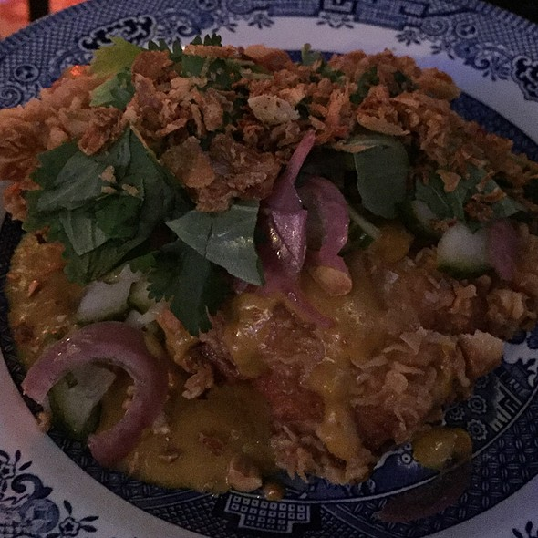 Guest Fry W Peanut Satay, Coriander, Thai Basil @ Chick'n'sours