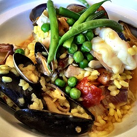 Seafood Paella - Bertrand at Mister A's, San Diego, CA