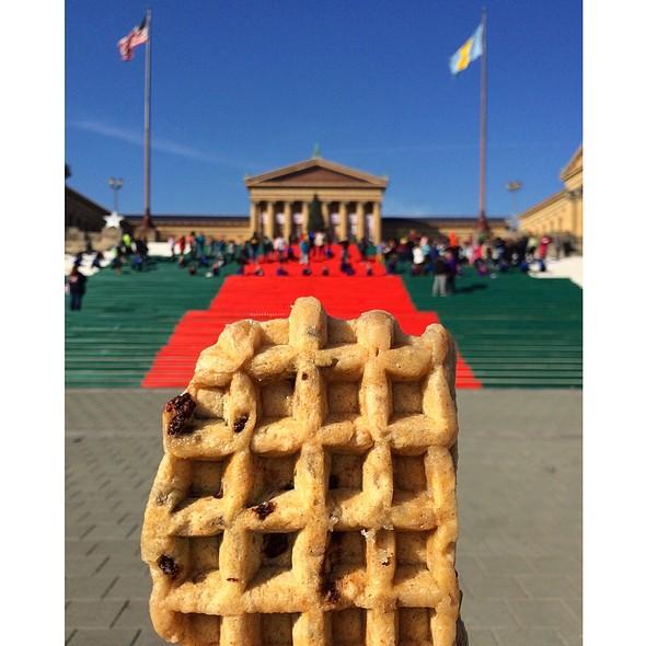 Chocolate Stuffed Waffle @ Philadelphia Museum of Art