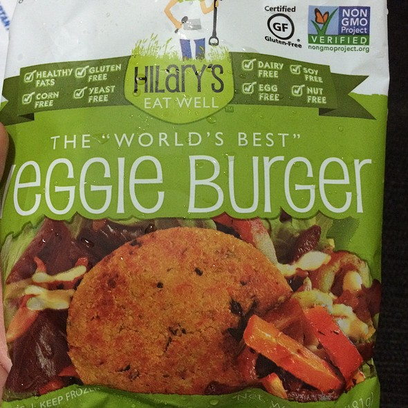 Hilary's Eat Well Veggie Burger @ Down To Earth All VEGETARIAN Organic & Natural