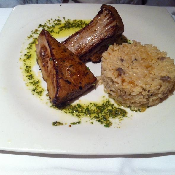 Tuna tataki with mushroom risotto @ La Dolça Herminia