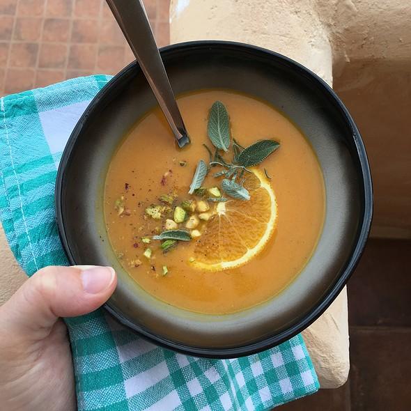Carrot Vanilla Orange Sage Soup @ June's Kitchen In Tenerife
