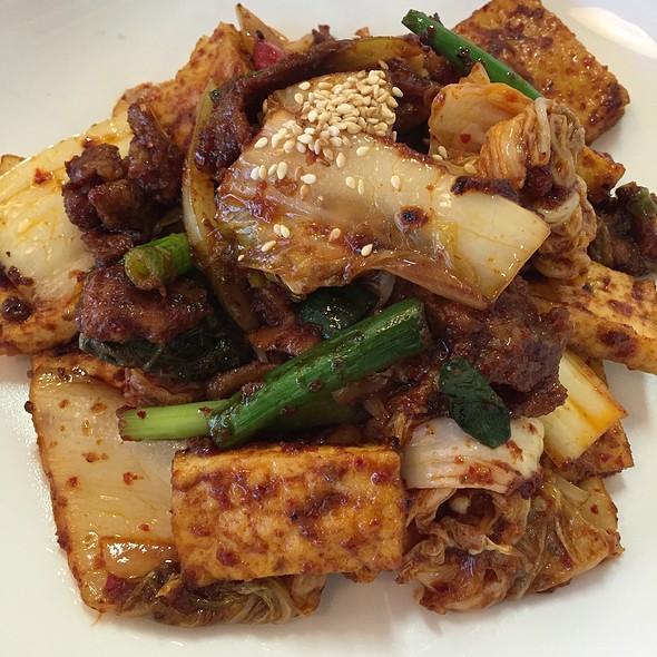 Kimchi Pork Tofu Stir Fry @ Kang Na Roo