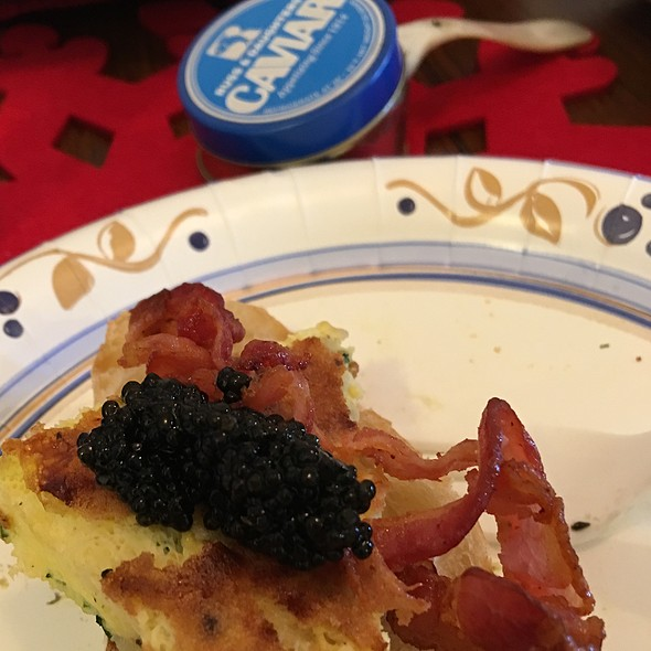 Caviar, Frittata And Bacon @ Home