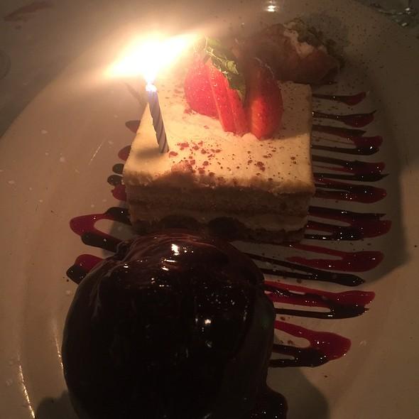 Birthday Dessert Trio @ Carlucci Restaurant