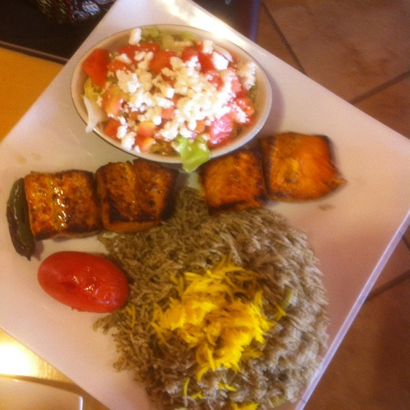 Salmon And Green Rice @ Farid Restaurant
