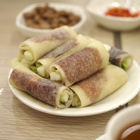 Peking Duck Rolls @ Yeebo Seafood & Hot Pot Restaurant